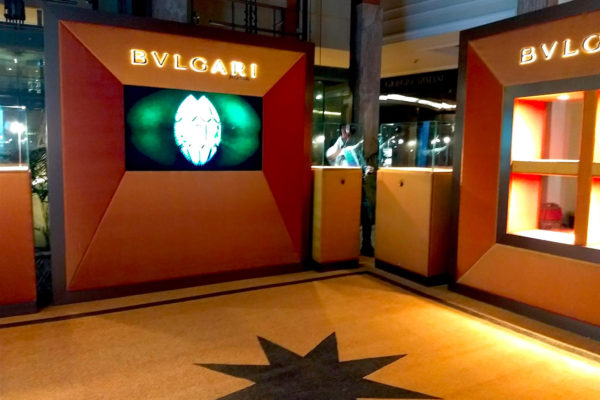 Special projects – Bvlgari display