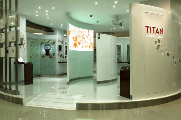 Brand interiors – A fully experiential permanent installation created for Titan watches flagship.