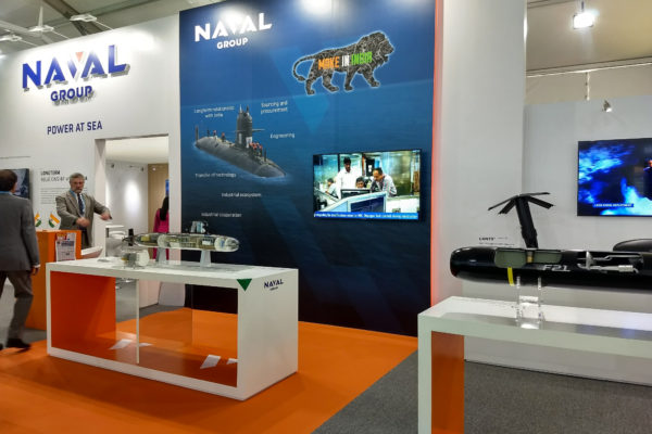 Custom built – Naval Group stand on Defexpo Chennai for Centthor