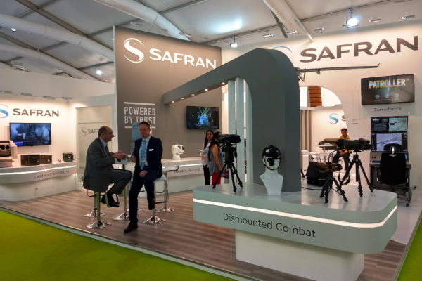 Custom built – Safran stand on Defexpo Chennai for Decoral